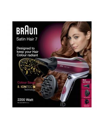 Braun Suszarka do włosów HD770 Diffusor czerwony - Satin Hair 7