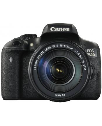 Canon EOS 750D Kit (18-135 STM) czarny + Canon objektyw