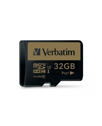 Verbatim Pro+ 32 GB microSDHC UHS Speed Class 3