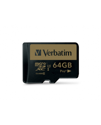 Verbatim Pro+ 64 GB microSDXC - UHS Speed Class 3