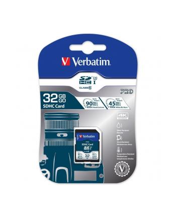 Verbatim Pro 32GB SDHC UHS Speed Class 3