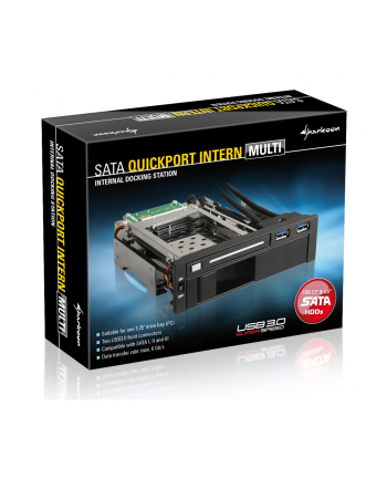 Sharkoon SATA QuickPort 2x USB 3.0 - kieszeń na 1x 2.5 cala i 1x 3.5 cala