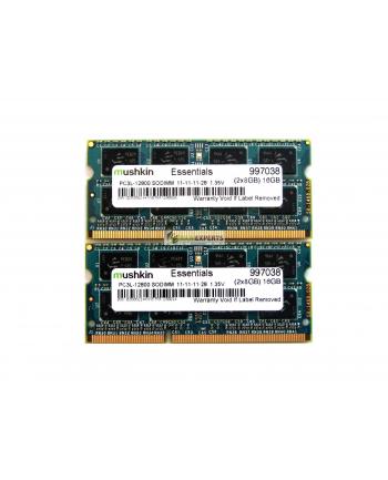 Mushkin DDR3 SO-DIMM 32GB 1600-11 Essential 1.35V Dual
