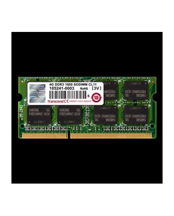 Transcend DDR3 SO-DIMM - 4GB 1600 - TS512MSK64W6H