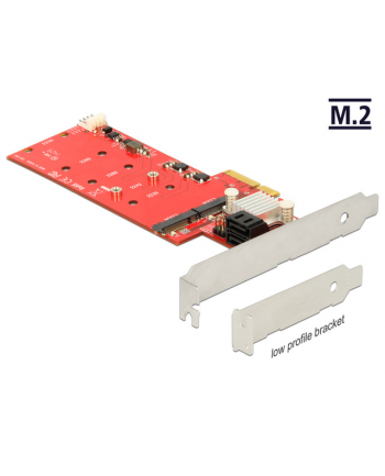 Delock PCIe 2x M.2 NGFF+ 2x SATA Raid