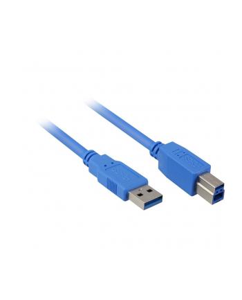 Sharkoon Kabel USB 3.0 wtyk A-wtyk B blue 1,0m