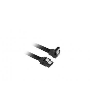 Sharkoon SATA III Kabel kątowy czarny - 45 cm