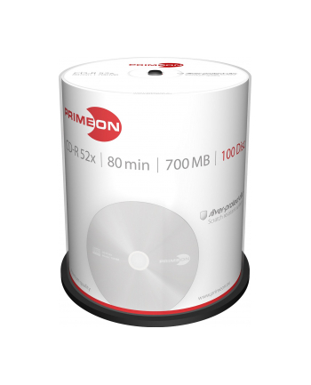 PRIMEON CD-R 700 MB 52x, CD-R - 100 sztuk - 2761103