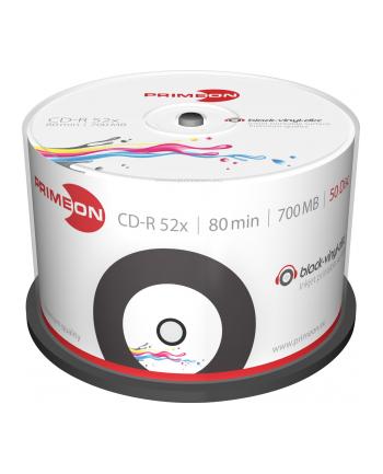 PRIMEON CD-R 700 MB 52x Black-Vinyl, CD-R - 50 sztuk - 2761107