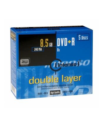 DVD+DL 8x JC 8,5GB Intenso 5 sztuk
