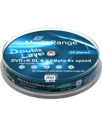 DVD+DL 8x CB 8,5GB MediaR 10 sztuk