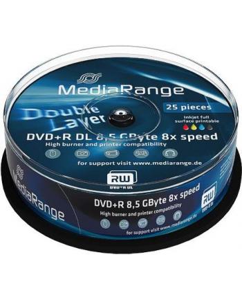 DVD+DL 8x CB 8,5GB MediaR Pr 25 sztuk
