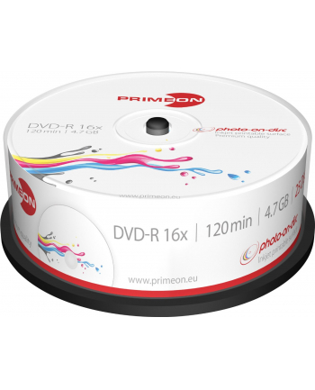 PRIMEON DVD-R 4,7 GB 16x Photo, DVD - 25 sztuk