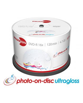 PRIMEON DVD-R 4,7 GB 16x Photo Ultragloss, DVD - 50 sztuk