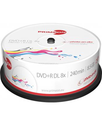 PRIMEON DVD+R DL 8,5 GB 8x Photo, DVD - 25 sztuk
