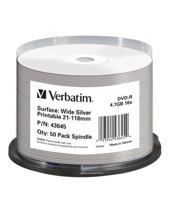 DVD-R 16x CB 4,7GB Verbatim Pr.Ink. 50 sztuk