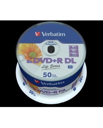 DVD+DL 8x CB 8,5GB Verbatim Pr wide 50 sztuk