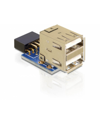Delock USB Pinheader blue > 2x USB 2.0 blue