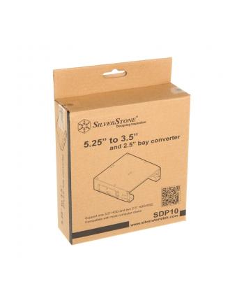 SilverStone SST-SDP10B - 5.25 cala na 1x 3.5 cala lub 2x 2.5 cala
