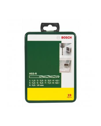 Bosch HSS-R-Wiertła do metalu - zestaw 19 sztuk