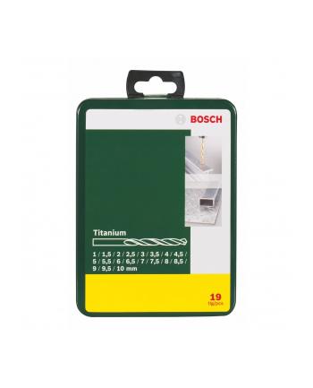 Bosch Wiertła do metalu Titanium Set 19 sztuk