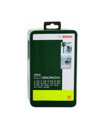Bosch HSS-R-Wiertła do metalu - zestaw 25 sztuk