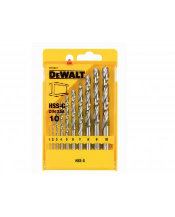 Dewalt HSS-G Wiertła do metalu - zestaw 10 sztuk