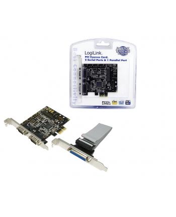 Kontroler PCI-E 2xCOM + 1xLPT