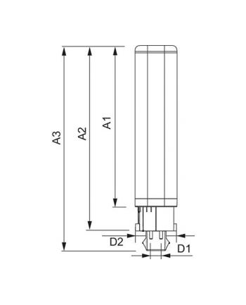 Philips CorePro LED PLC 9,0W 830 EVG G24q-3 - 900lm