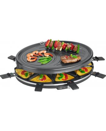 Grill elektryczny Clatronic RG 3517 Raclette (1400W stołowy-otwarty  czarny)