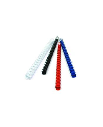 Fellowes grzbiet plastikowy okrągły 8mm czerwony | 100szt.