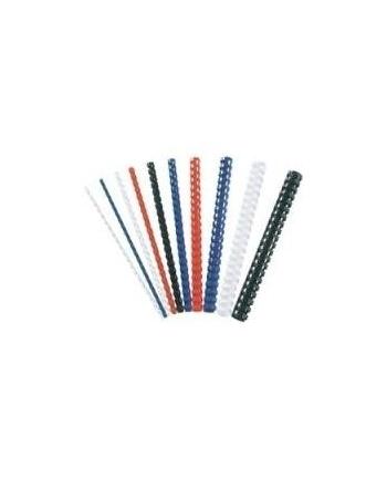 Fellowes grzbiet plastikowy okrągły 28mm czarny | 50szt.