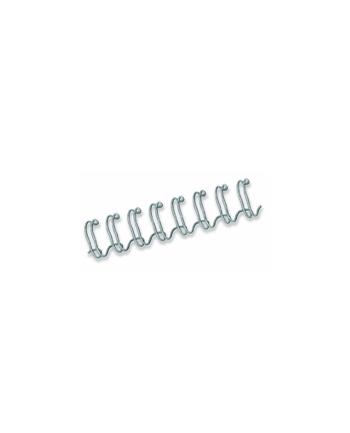 Fellowes grzbiet drutowy skok 3:1 6mm srebrny | 100szt.