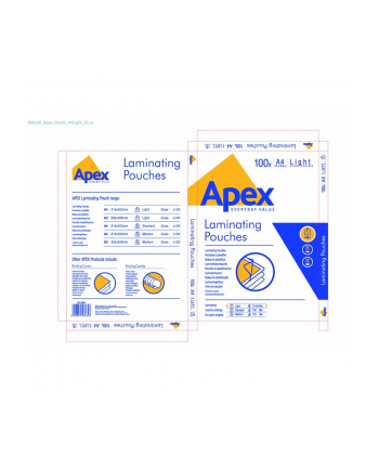 Fellowes folia Apex do laminowania   A4   80 mic   100 szt.
