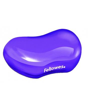 Fellowes podkładka pod nadgarstek żelowa CRYSTAL, fioletowa