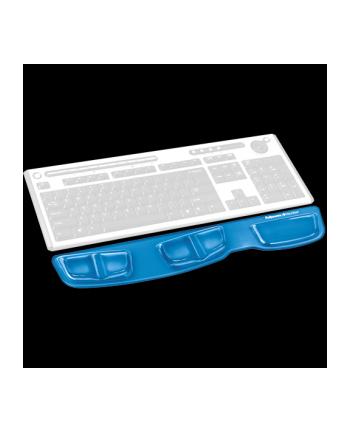 Fellowes seria CRYSTAL - podkładka Health-V przed klawiaturę, niebieska