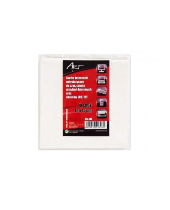 Art AS-10 ściereczki antystatyczne suche do LCD/TFT | 10 szt. | 15x15cm