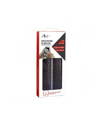 Art AS-18 dwustronne ściereczki z mikrofibry i jedwabiu - dual pack