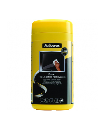 Fellowes ściereczki nasączone do czyszczenia ekranu, tuba 100 szt