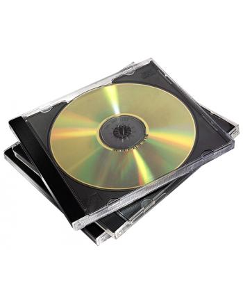 Fellowes pudełka na 1 płytę CD, czarne, 10 szt.