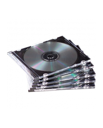 Fellowes pudełka na CD typu Slimline przezroczyste - 25 szt.