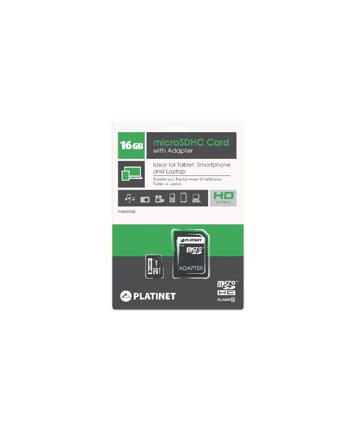 Platinet karta pamięci microSD class 10 + adapter SD | 16GB
