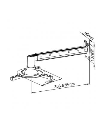 Art uchwyt ścienny 36-58cm do projektora max. 15kg  P-103-AL