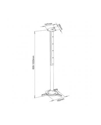 Art uchwyt podwieszany 60-102cm do projektora max. 15kg  P-105S-AL