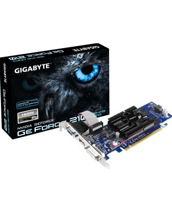 Gigabyte GeForce CUDA GT 210, 1GB DDR3 (64 Bit), HDMI, DVI, D-SUB, LP, BOX