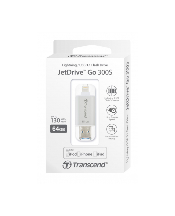 Transcend flashdrive JDG for iphone, iPad, iPod, 64GB,Lightning connector, black
