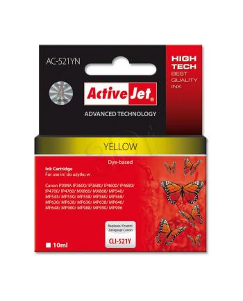 Activejet AC-521Y tusz yellow do drukarki Canon (zam. CLI-521Y)