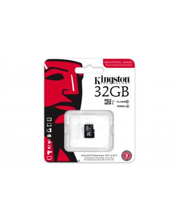 Kingston karta 32GB microSDHC UHS-I Industrial Temp Card Single Pack w/o Adapter