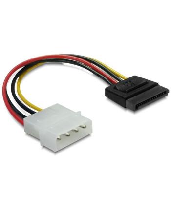 Kabel SATA zasilający (M) -> Molex (M) 6cm Delock