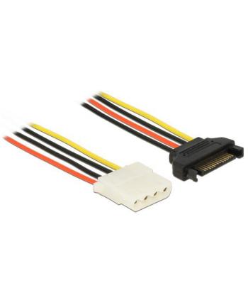 Kabel SATA zasilający (M) -> Molex (F) 30cm Delock